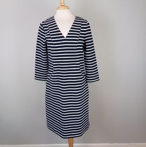 Boden Striped Nautical Shift Dress Blue Size 12
